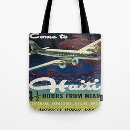 Vintage poster - Haiti Tote Bag
