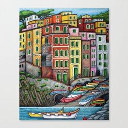 Colours of Riomaggiore Canvas Print