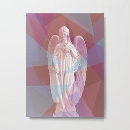 Geometric Angel Metal Print