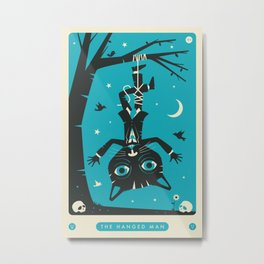 TAROT CARD CAT: THE HANGED MAN Metal Print
