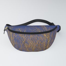 Glimmering Golden Willow Fanny Pack