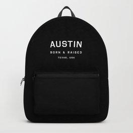 Austin - TX, USA (Black Arc) Backpack