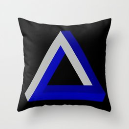 Impossible Triangle Throw Pillow