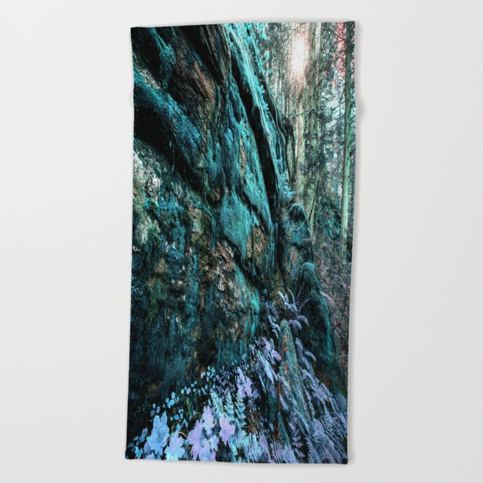 Enchanted Forest Wall Beach Towel