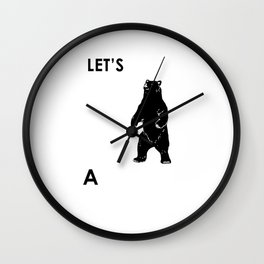 Let's Make A Panda Shirt Funny Polar Bear Black Bear Shirt Wall Clock