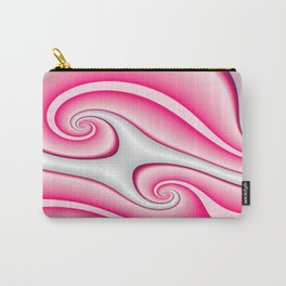 Interlinked Waves 2 (candy cane pink) Carry-All Pouch