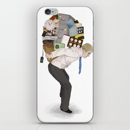 The Weight of Technology #2 iPhone Skin