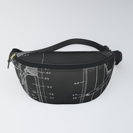 Headphones Patent - White on Black Fanny Pack