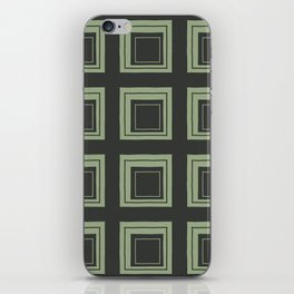 Green Squares iPhone Skin
