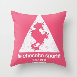 Chocobo Sportif Throw Pillow