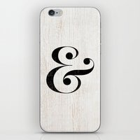 ampersand iPhone & iPod Skins featuring Ampersand by Crea Bisontine