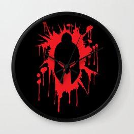 Spartan Helmet in Bloodstain | Warrior Workout Wall Clock