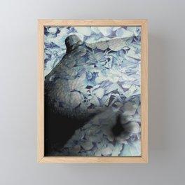 Blue Floral Breasts Framed Mini Art Print