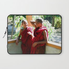 Laughter at th Monastey, Myanmar Laptop Sleeve
