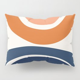 Abstract Shapes 7 in Burnt Orange and Navy Blue Pillow Sham