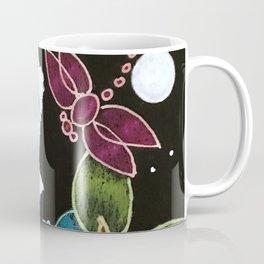 TINY BLUE OWL - TALKING TO THE DRAGONFLIES Coffee Mug