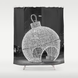 Black and white christmas ball Shower Curtain