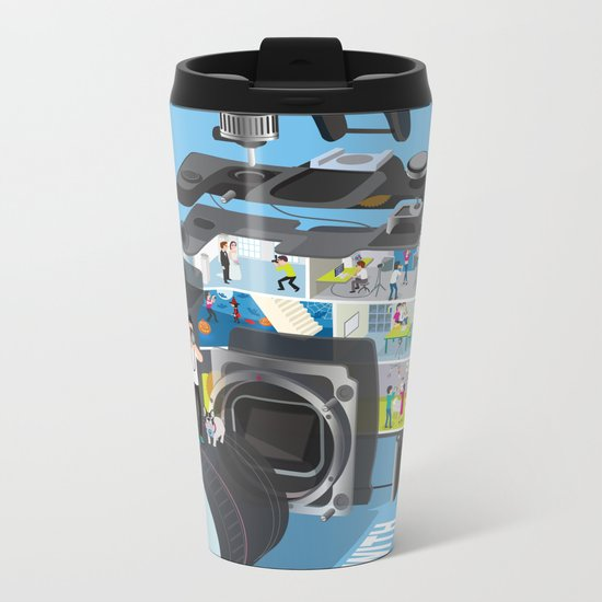 A life with camera Metal Travel Mug