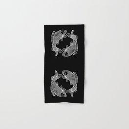 Black White Koi Minimalist Hand & Bath Towel