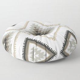 Beige Aztec Floor Pillow