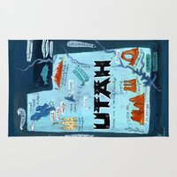 utah Area & Throw Rugs featuring UTAH by Christiane Engel