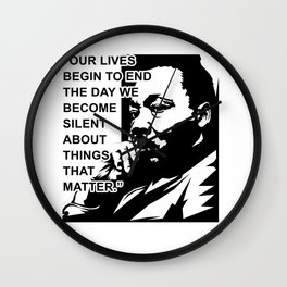 Martin Luther King Jr Quote Wall Clock