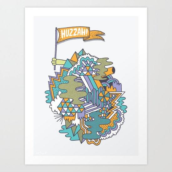 Huzzah! Art Print