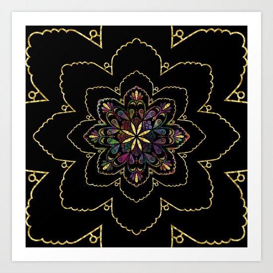 Mandala of Wishes Art Print
