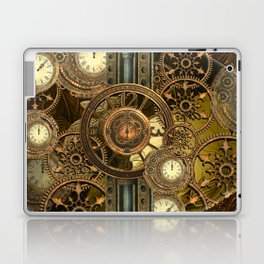 Steampunk, awesome clocks Laptop & iPad Skin