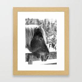 endless winter86 bw Framed Art Print