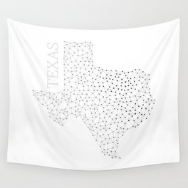 Texas LineCity W Wall Tapestry