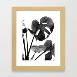 Monstera Vibes #2 #minimal #decor #art #society6 Framed Art Print