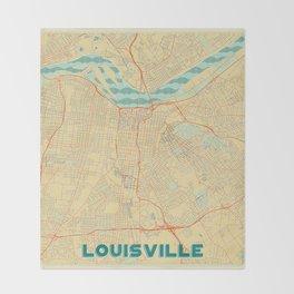 Louisville Map Retro Throw Blanket