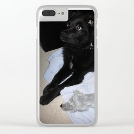 Furbaby Toy Clear iPhone Case