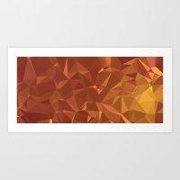 Triangles Orange Art Print