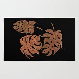 Bronze Monstera Leaves Rug