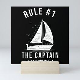 Sailor Gift Sailing Sailboat #1 Rule Mini Art Print
