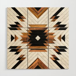 Urban Tribal Pattern No.5 - Aztec - Concrete and Wood Wood Wall Art