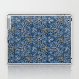 swirl blue pattern Laptop & iPad Skin