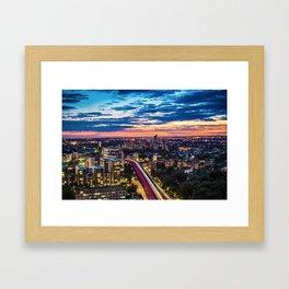 Into the Sunset Framed Art Print