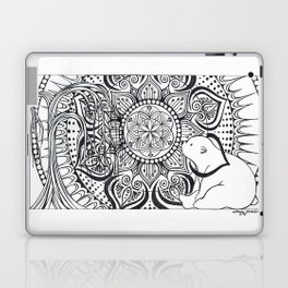 Polar Bear Mandala by Lady Lorelie Laptop & iPad Skin