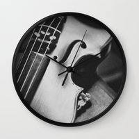 violin Wall Clocks featuring Violin by Jo Bekah Photography