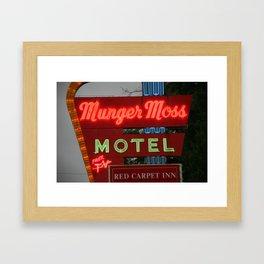 Route 66 - Munger Moss Motel 2008 Framed Art Print