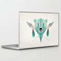 polar bear Laptop & iPad Skins featuring polar bear by Manoou