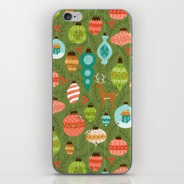 Mid Century Ornaments - Traditional iPhone Skin