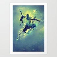 soul Art Prints featuring Soul by Pete Harrison