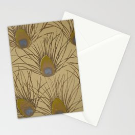 Peacock Screenprint Stationery Cards