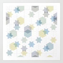Stars and wishes Art Print