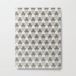 Gray Triangles Metal Print