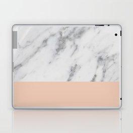 Marble and Blush Pink Laptop & iPad Skin